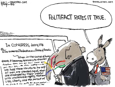 PolitiFact political cartoon
