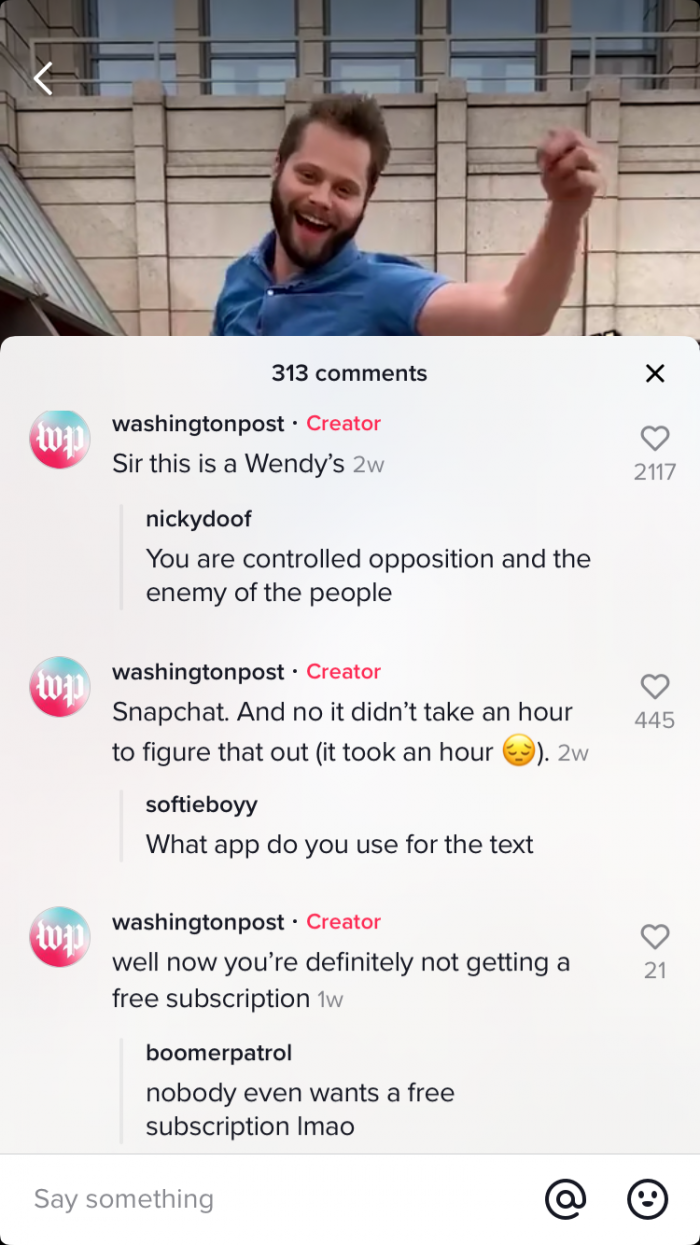Meet TikTok: How The Washington Post, NBC News, and The Dallas