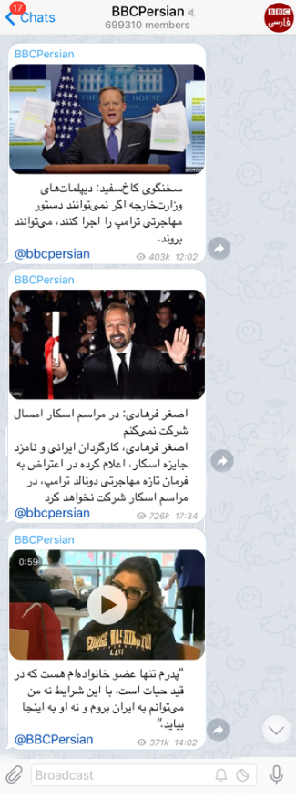 Bbc persian channel telegram
