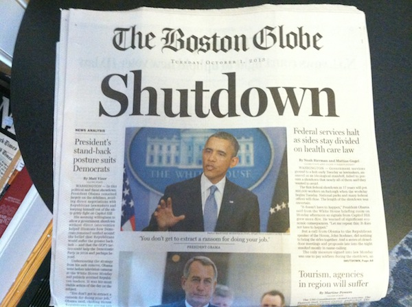 Boston Globe Shutdown