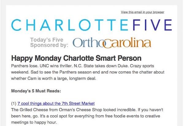 CharlotteFiveNewsletter