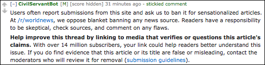 reddit s r worldnews community used a series of nudges to push