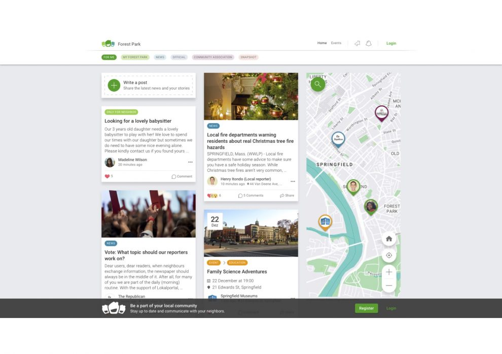How Neue Westfälische and Lokalportal are trying to build a hybrid between a local newspaper and a local social network in a German area with about 2M residents