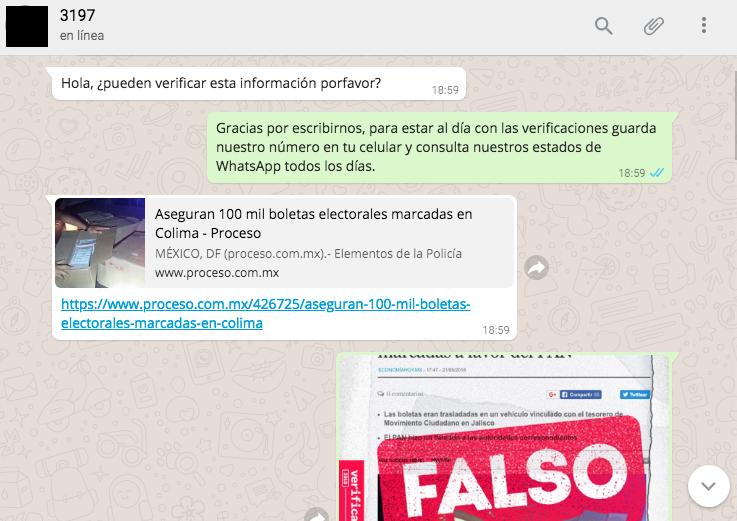 Whatsapp Is A Black Box For Fake News Verificado 2018 Is Making