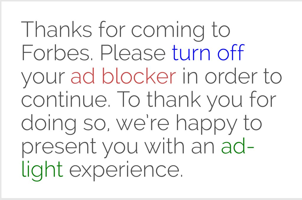 Forbes ad blocker