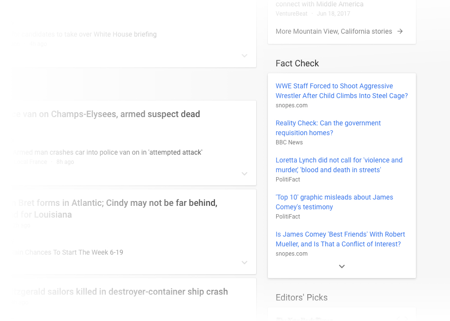 Google News Gets a Redesign and a Fact Checking Option