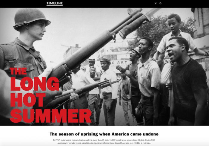 To commemorate the 1967 race riots, Timeline is embarking on a two ...