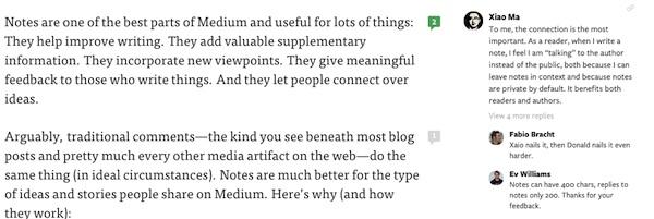 Medium notes