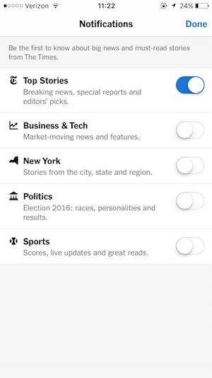 NYTNotifications signup