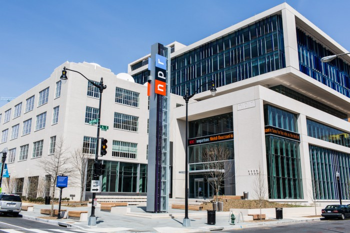 NPR Headquarters in Washington, DC on April 9, 2013.