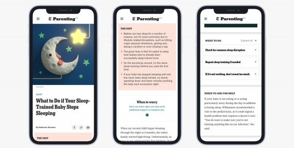 The New York Times launches its (evidence-driven, non-judgy) Parenting vertical, with an eye toward making it a subscription product
