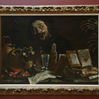 Peter Van Laer's Magic Scene with Self-portrait (better) via Shi-Chi Chiang