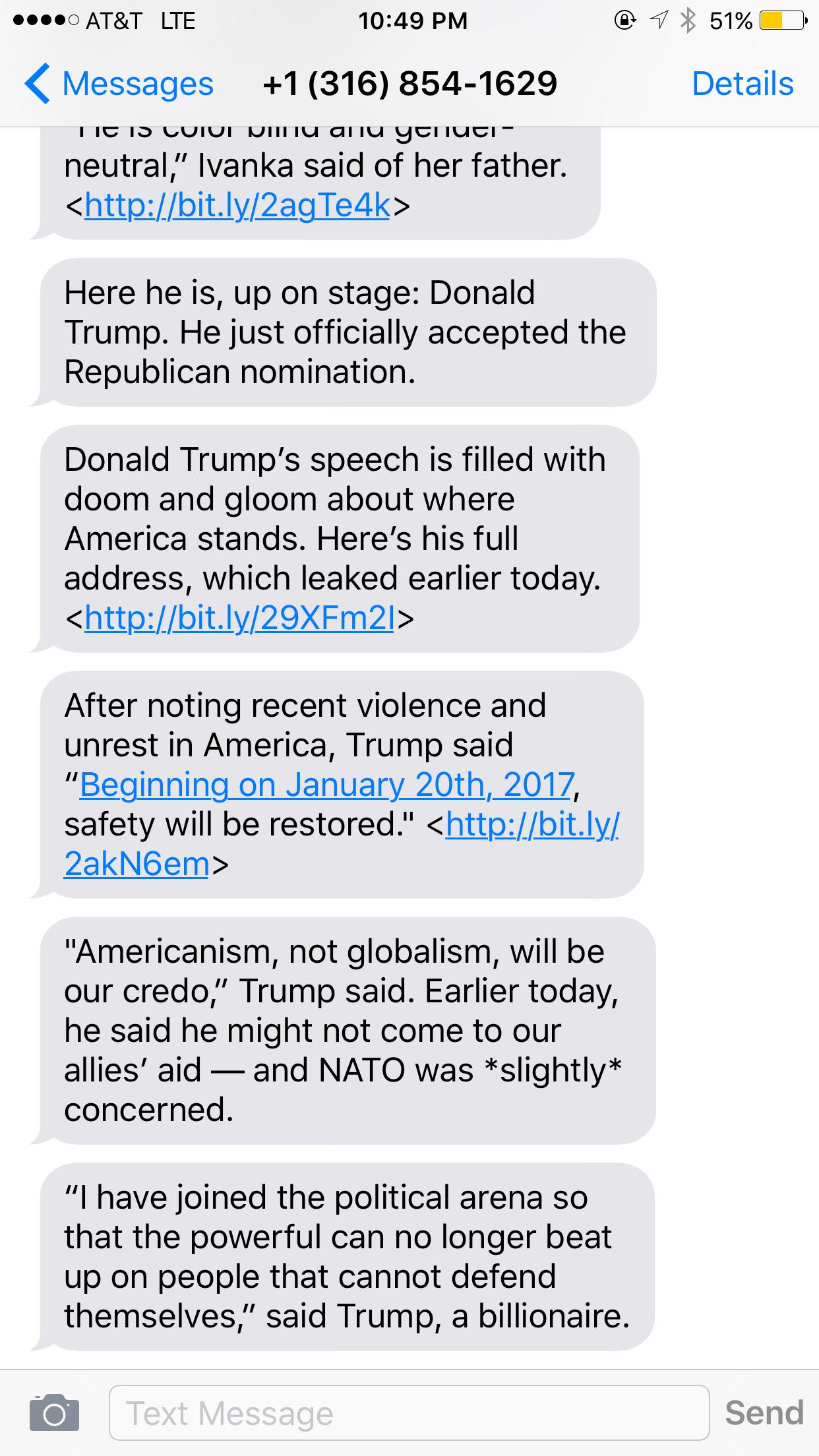 SMS Trump 2