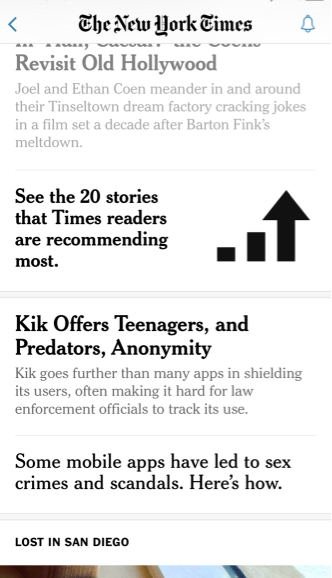 STORY TOUTS IN THE STREAM NYT SMARTPHONE FOR NIEMAN copy