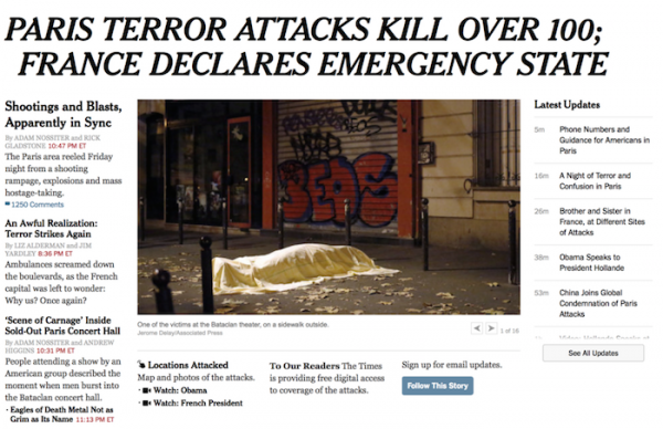 The New York Times is using Paris email updates to explore a new method of interaction with readers