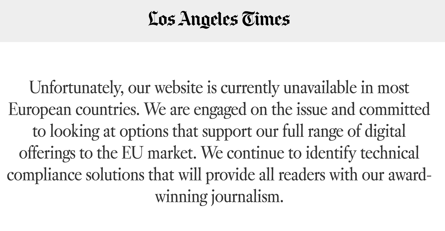 More than 1,000 U S  news sites are still unavailable in