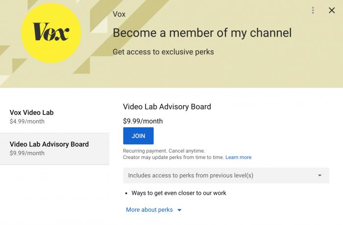 Vox com tries a membership program, with a twist: It's