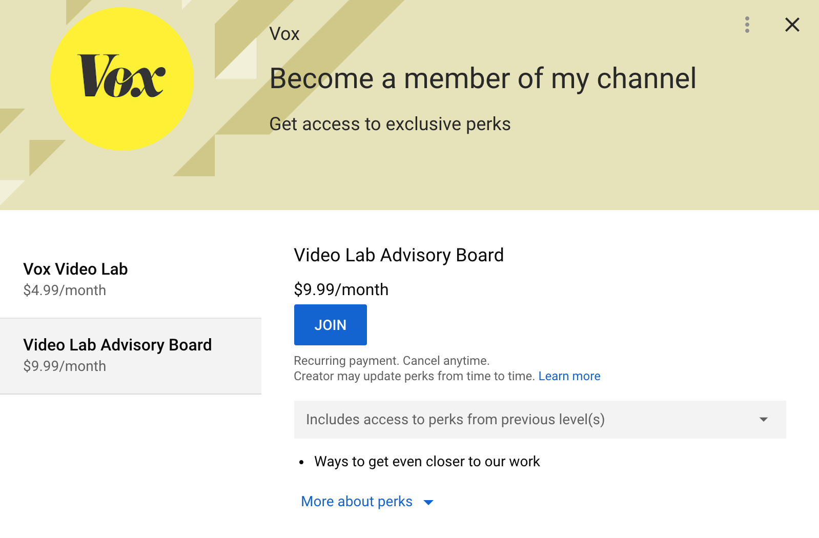 Vox com tries a membership program, with a twist: It's