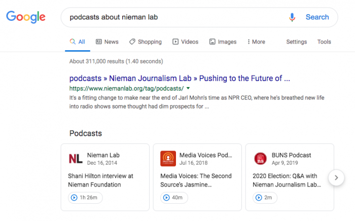 Google Search will now show you podcast episodes (but it won't have to link back to Google Podcasts)