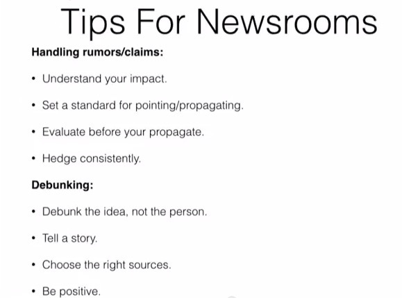 Tips for Newsrooms