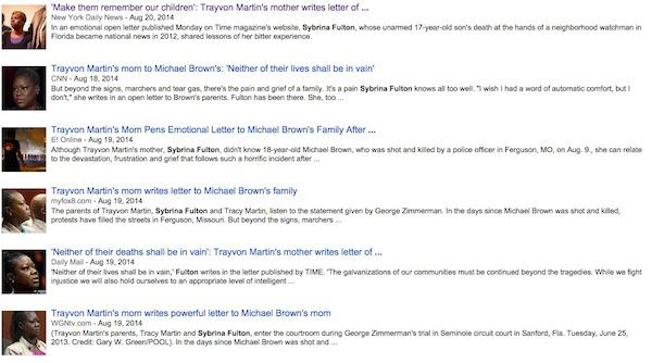 TrayvonMartinMomGoogleNews