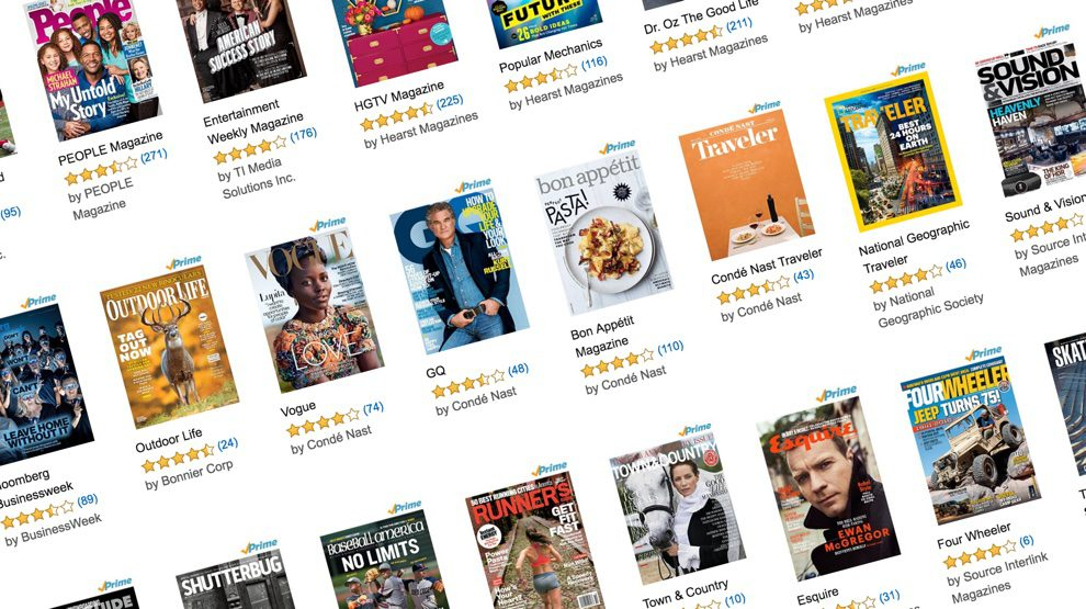 Your Amazon Prime membership now includes magazines, the newest batch of content in the bundle