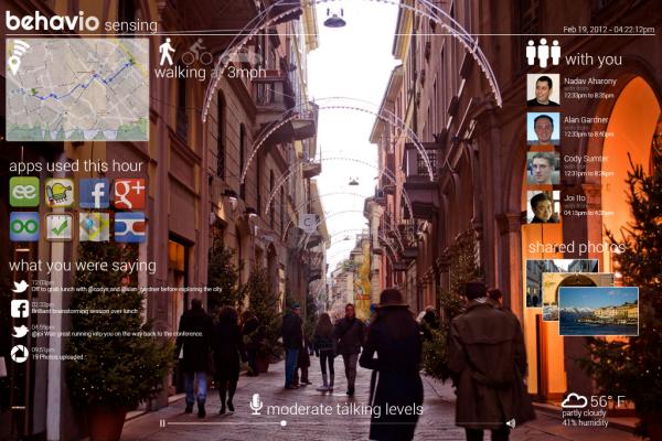 Behavio mockup of photo with smart metadata