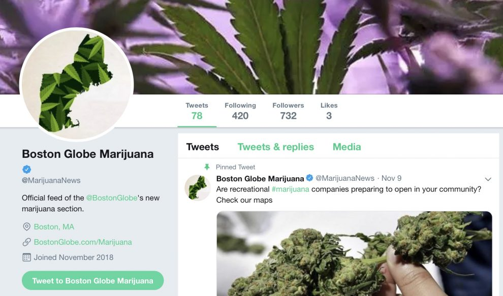 The Boston Globe seeks a contact high from the spread of marijuana legalization