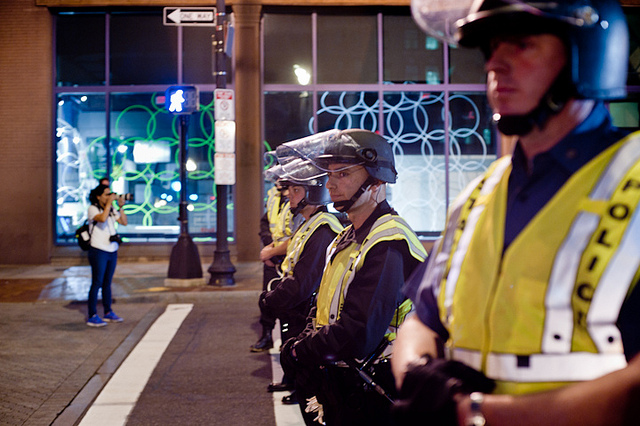 Boston police during the Occupy Boston protest, October 2011