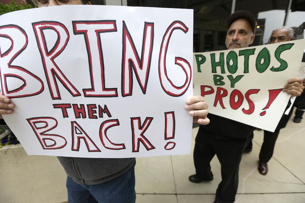 Sun Times Photographers Protest
