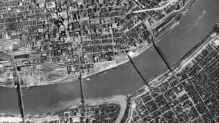 1949 aerial photo of Cincinnati