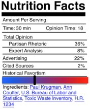 Clay Johnson's proposed nutritional label for news