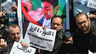Mideast Egypt Journalists Under Fire