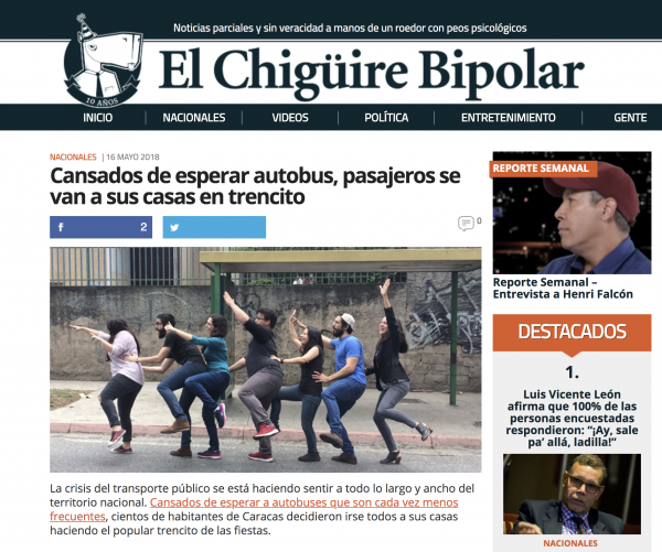How Venezuelan satire site El Chigüire Bipolar stays funny in a country whose leader is tightening his grip