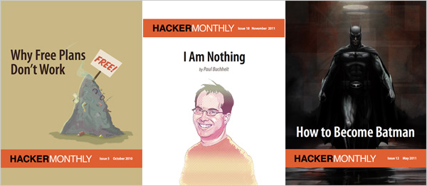Hacker Monthly covers