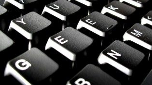 "Keys on computer keyboard spelling ""geek"""