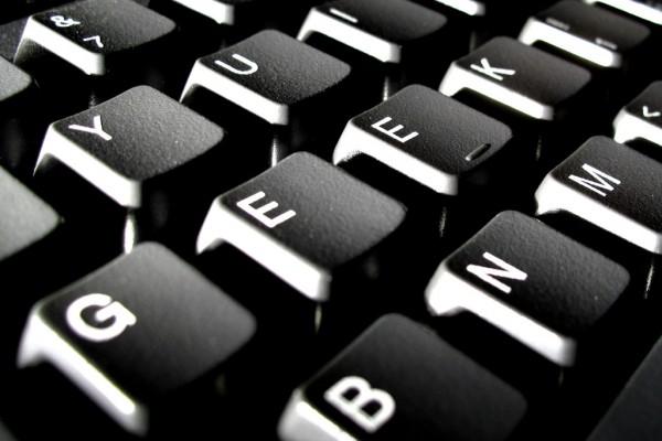 "Keys on computer keyboard spelling ""geek"""