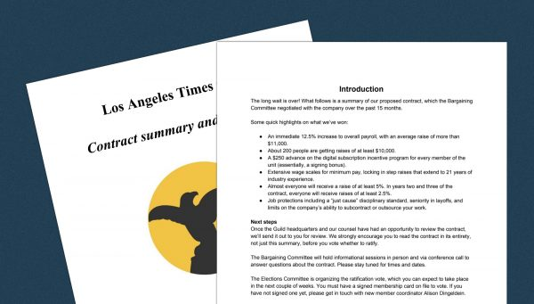The Los Angeles Times and its union now have a contract and (maybe) everyone is happy
