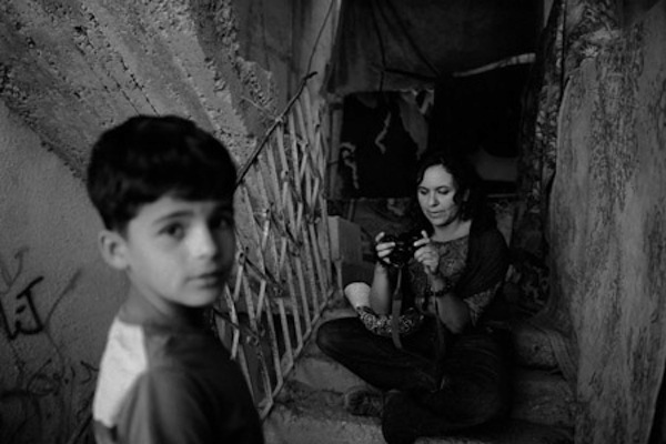 Marcela Turati in Aida Refugee Camp