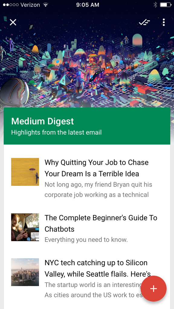 medium-newsletters-inbox