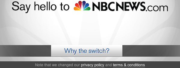 For NBCNews.com, a new website comes with new privacy standards