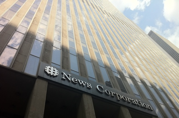 News Corp's midtown Manhattan office building is home to The Wall Street Journal.