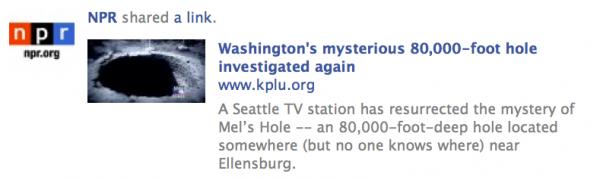NPR Facebook screen shot