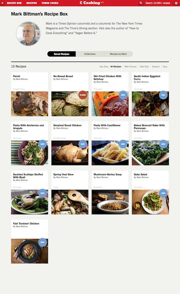 NYT Cooking - Recipe Box