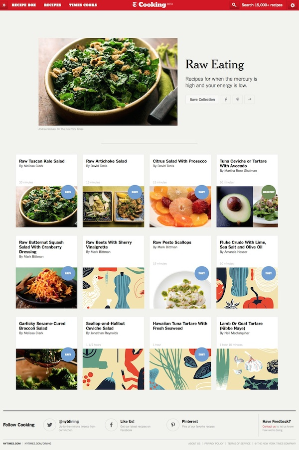 NYT Cooking - Raw Eating