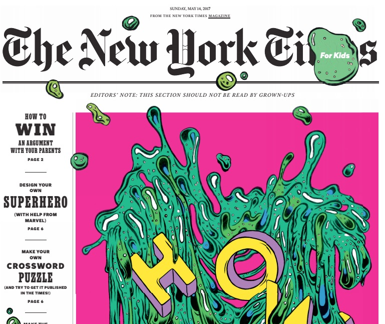 A regular New York Times kids' section and a kids' version of The Daily are on the way this month