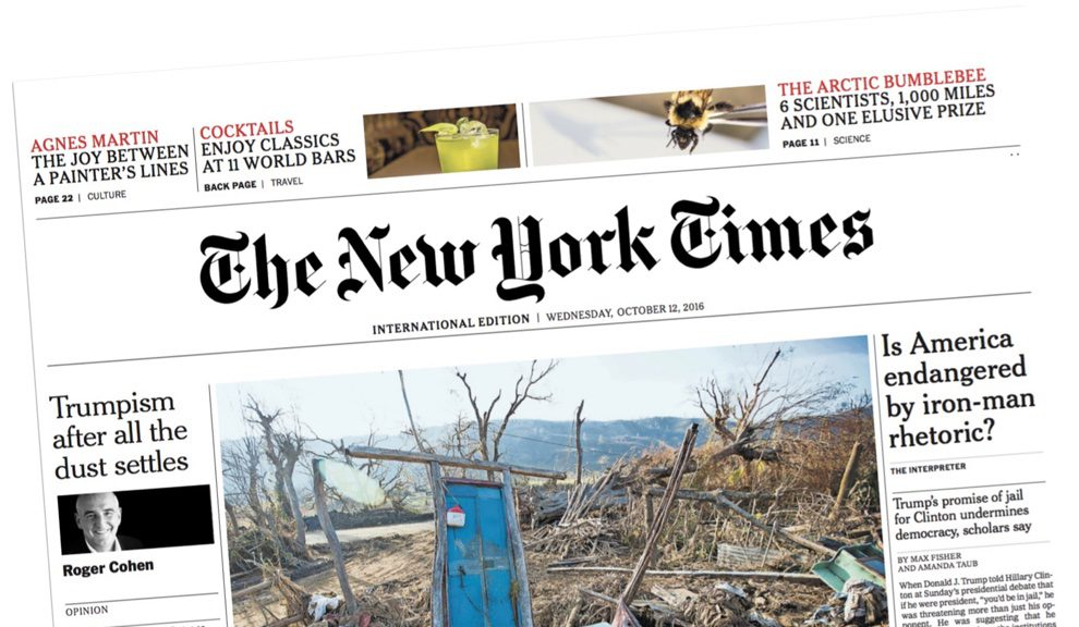 The new york times' international edition:a different approach.