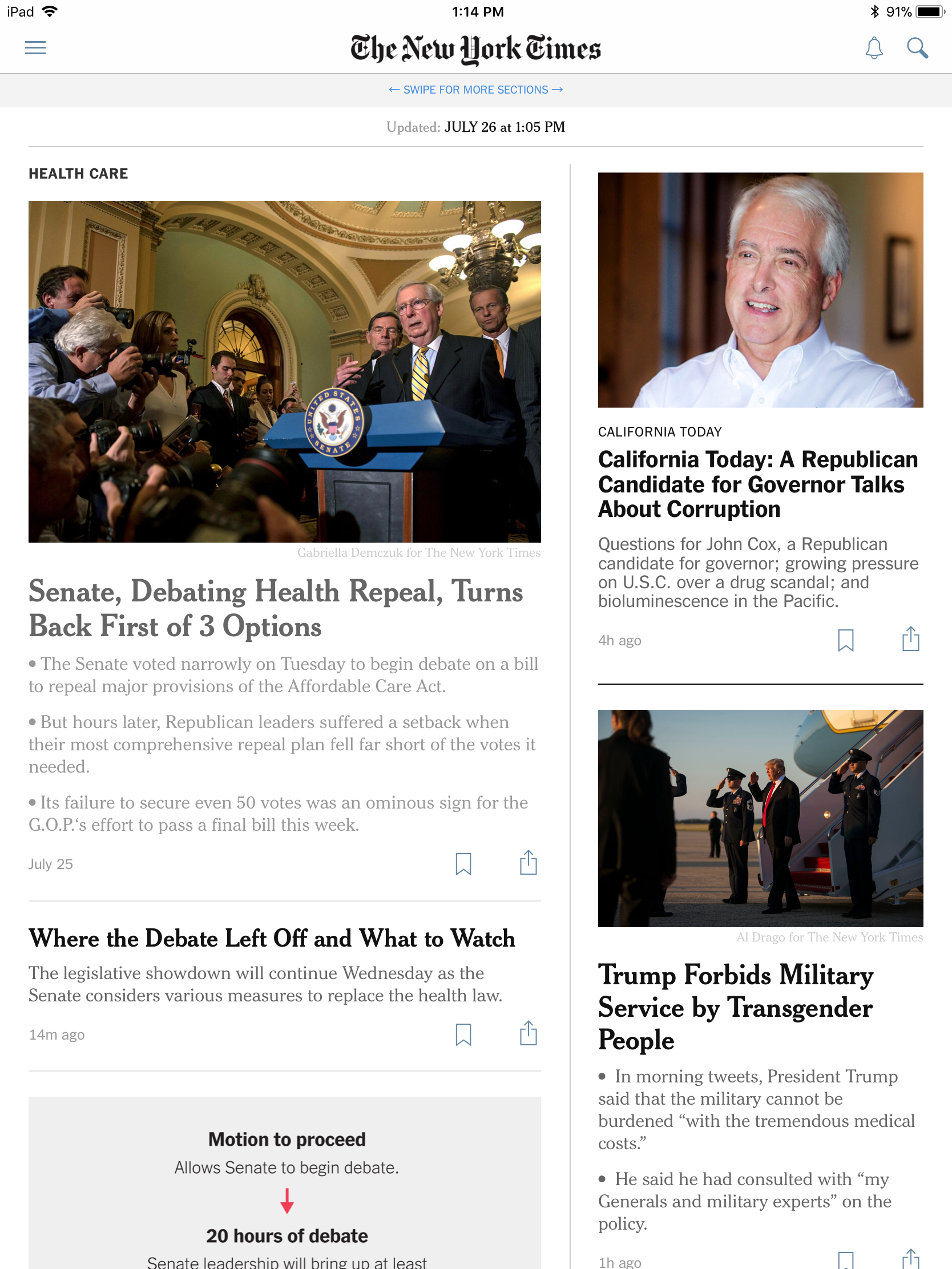 With its new iOS app, The New York Times is finally unifying its