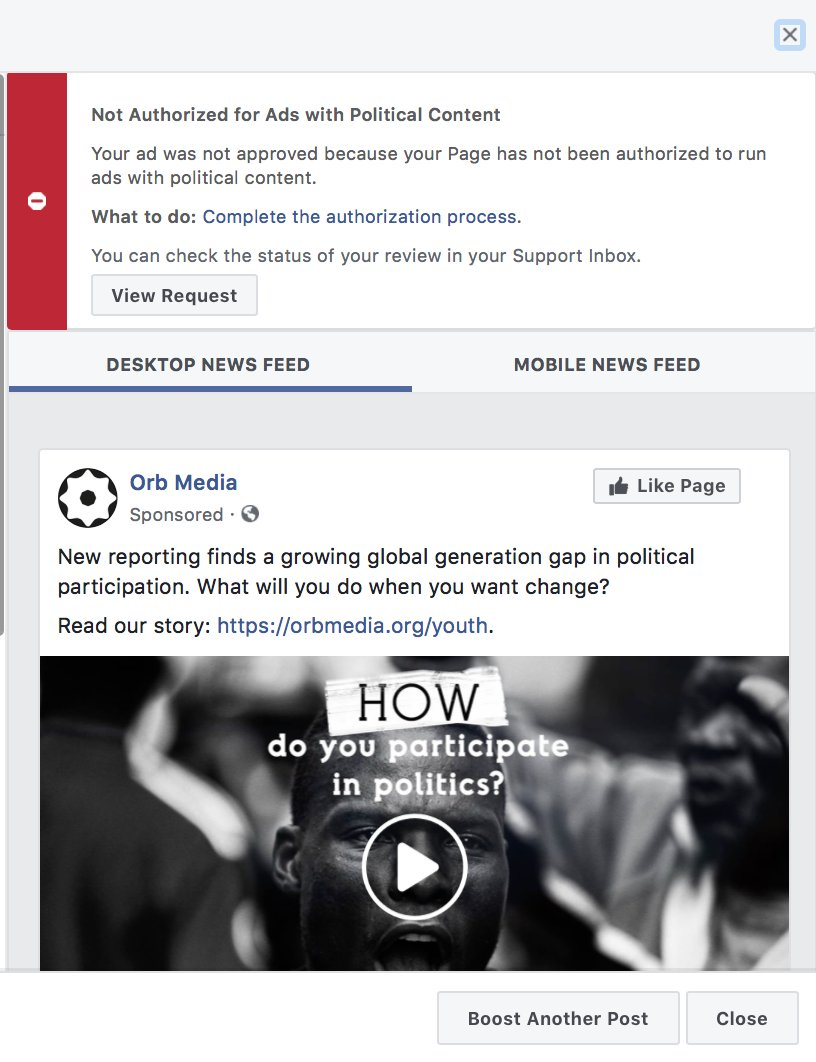 Are you sure that promoted article is still political content, Facebook?