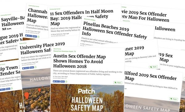 For Patch, local sex offender maps are a Halloween tradition